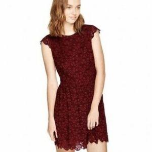 Aritzia Talula Belgravia Red Lace Dress